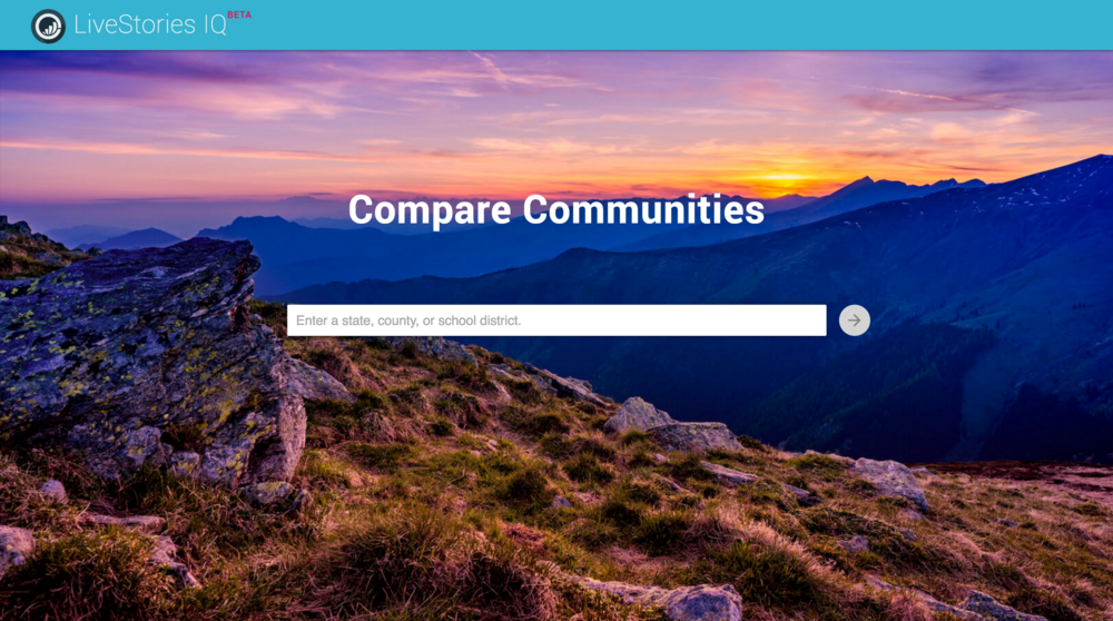 LiveStories IQ - Easily compare states, counties, and school districts.