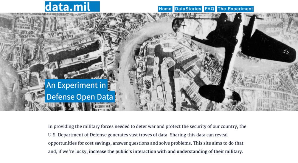 data.mil open data portal