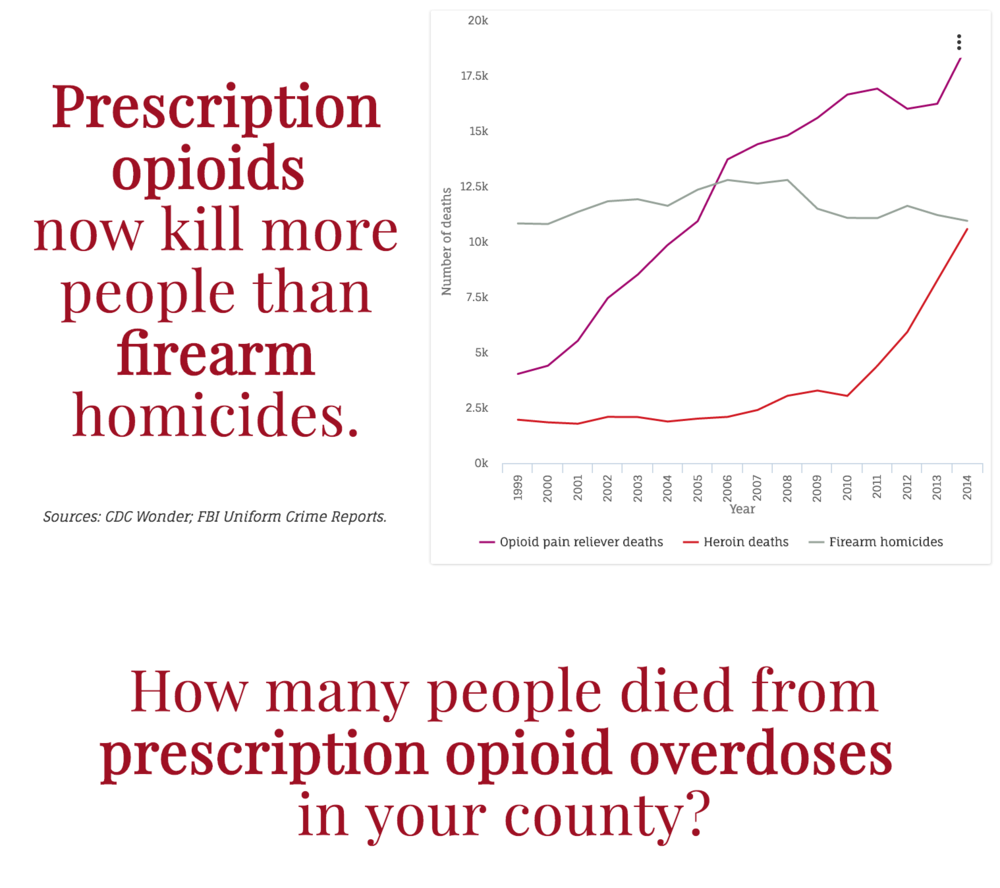 """A screenshot from a """"teaser"""" version of a local opioid safety data report."""