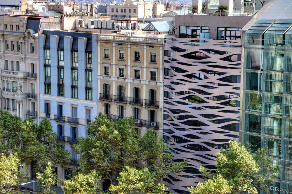 Illustration of Eclectic Architecture in Barcelona