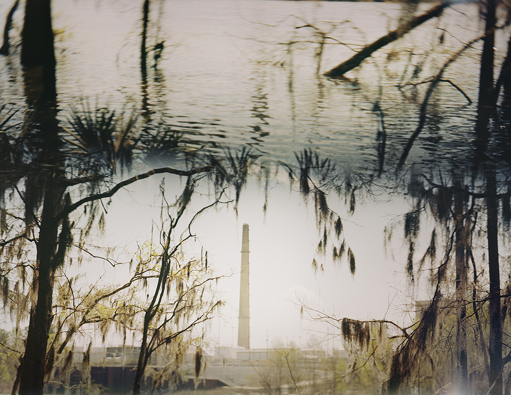 ANSLEY WEST RIVERS  Nuclear Power Plant on the Altamaha River, GA, 2014  Archival Pigment Print  Available sizes 24 x 30 inches, edition of 7 40 x 50 inches, edition of 7