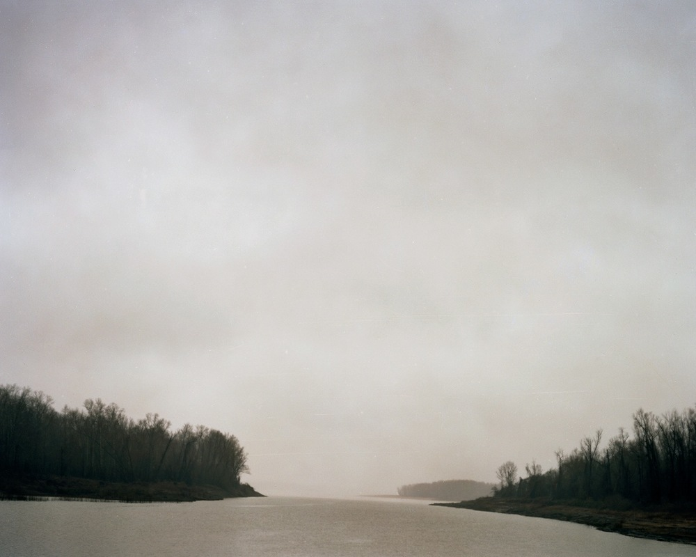 ANSLEY WEST RIVERS  Mississippi River, Natchez, MS, 2014  Archival Pigment Print  Available sizes 24 x 30 inches, edition of 7 40 x 50 inches, edition of 7