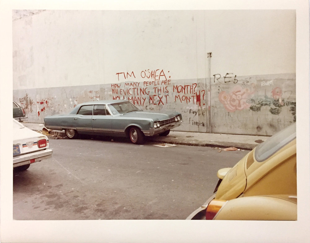 Langton between Folsom and Harrison Streets, 1979 Vintage Chromogenic Print 11 x 14 inches and 14 x 17 inches