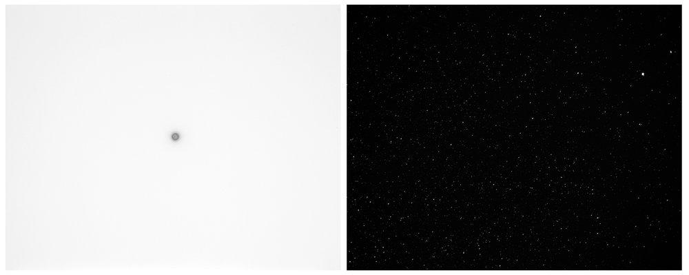 scott b. davis  starlight above the colorado desert, 2016 unique paper negative palladium/platinum prints, diptych 8 x 20 inches (each 8 x 10 inches)