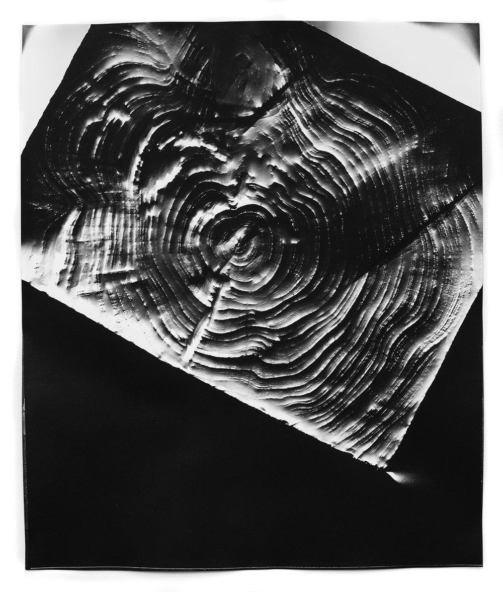 KLEA McKENNA  Automatic Earth 51 , 2017 Photographic rubbing. Unique gelatin silver photogram. 24 x 20 inches