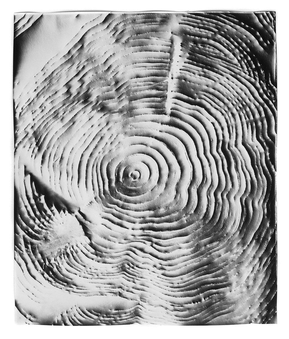 KLEA McKENNA  Automatic Earth 55,  2017 Photographic rubbing. Unique gelatin silver photogram. 24 x 20 inches