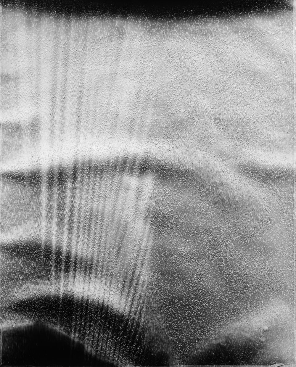 KLEA McKENNA  Rainstorm #26,  2016 Unique gelatin silver photogram of rain. 42 x 34 inches