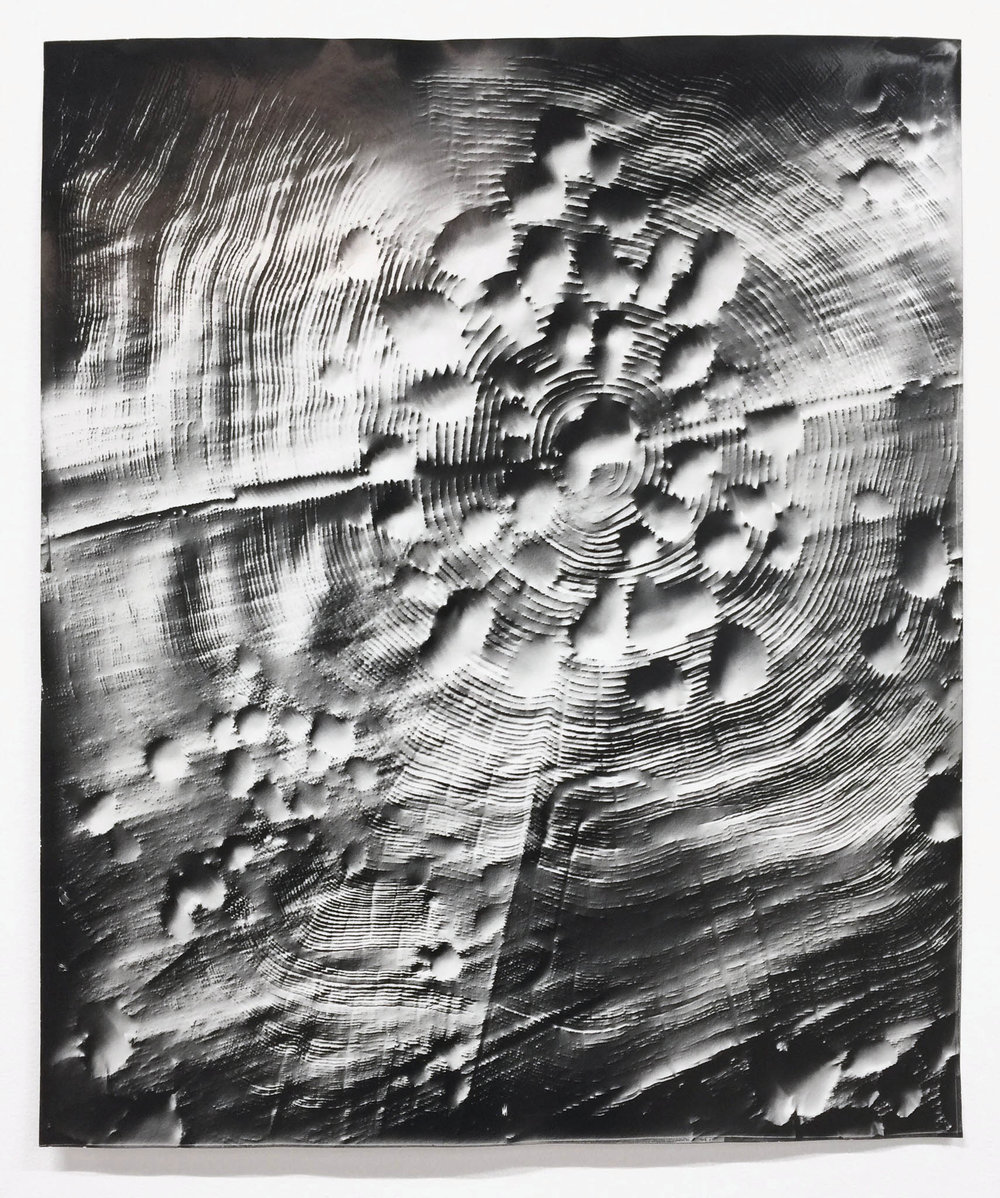KLEA McKENNA Automatic Earth #96, 2017,  Photographic rubbing. Unique gelatin silver photogram. 24 x 20 in.