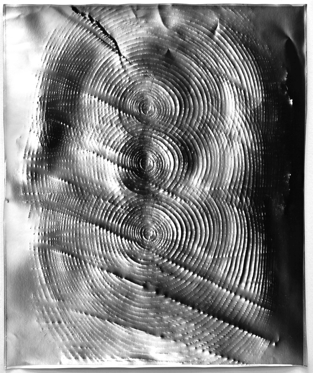 KLEA McKENNA  Trinity (1),  2016 Photographic rubbing. Unique gelatin silver photogram 24 x 20 inches