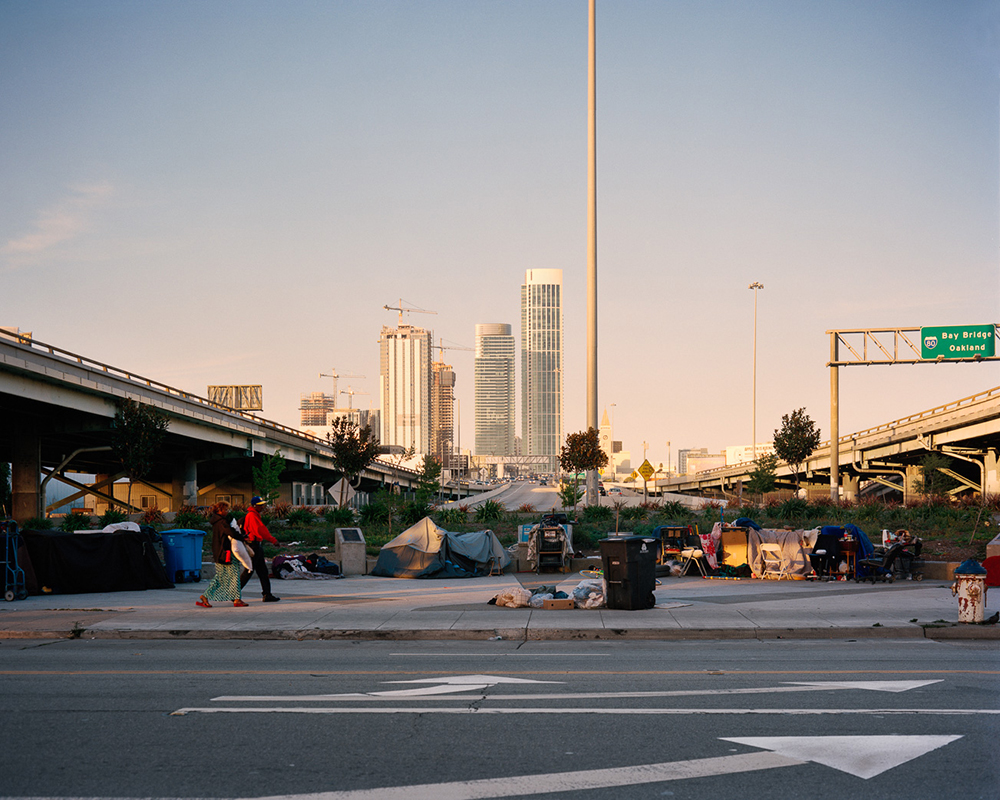 Homeless Camp, 5th Street between Harrison and Bryant,  2015   from  SoMA Now (2011 - ongoing)   Archival Pigment Print  Available sizes 16 x 20 inches, edition of 5 20 x 24 inches, edition of 2 30 x 40 inches, edition of 2