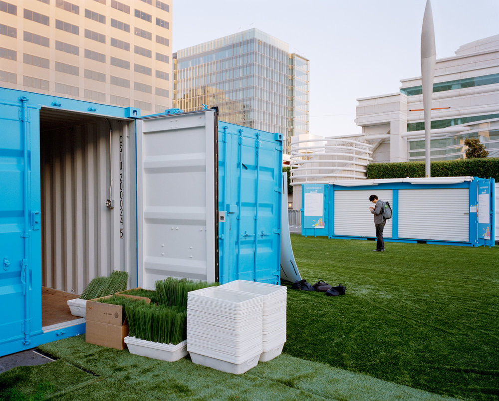 Containers at Moscone Center, Howard Street, 2013 from SoMA Now (2011 - ongoing)  Archival Pigment Print  Available sizes 16 x 20 inches, edition of 5 20 x 24 inches, edition of 2 30 x 40 inches, edition of 2