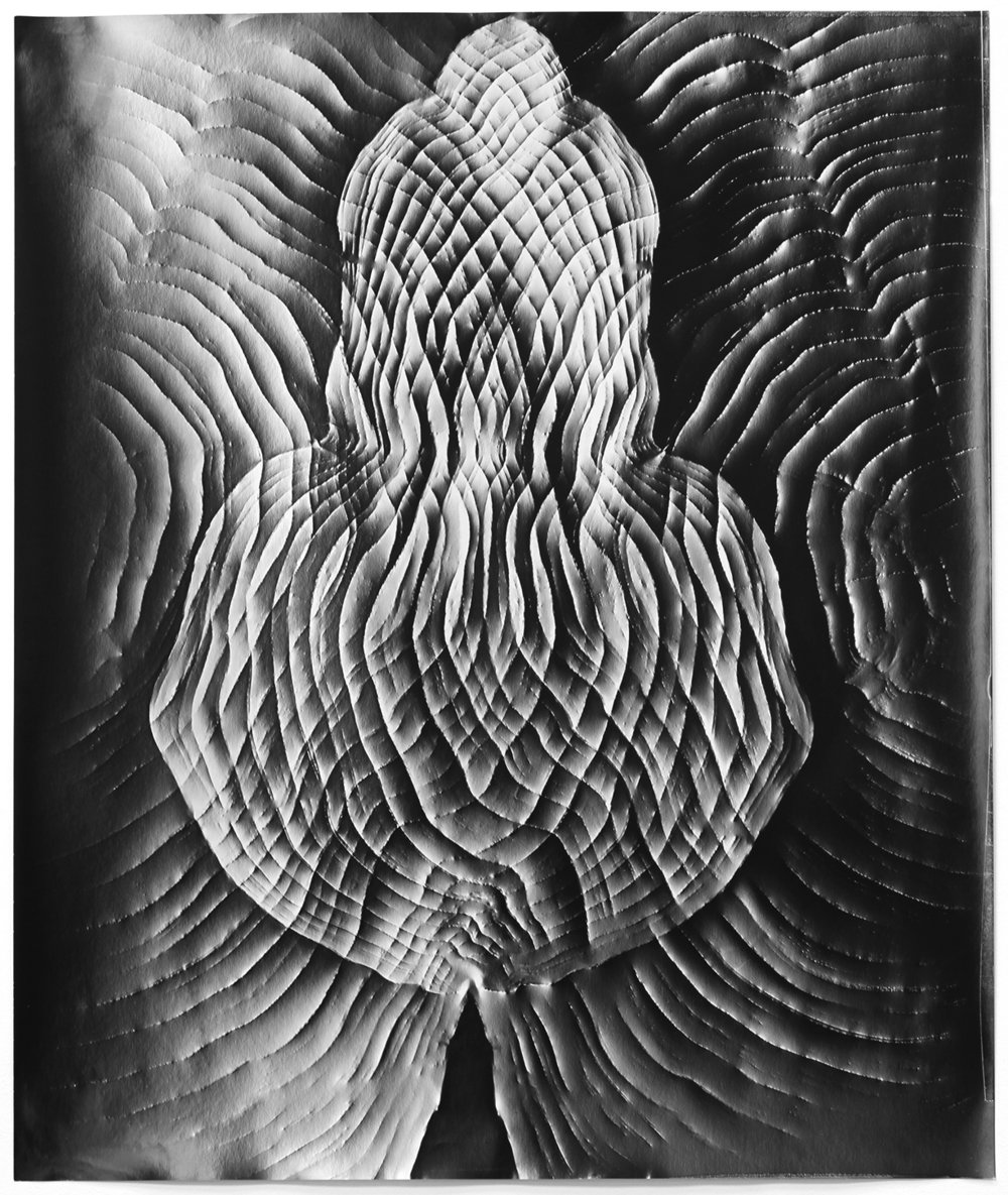 KLEA MCKENNA Automatic Earth #84, 2017 Photographic rubbing. Unique gelatin silver photogram.  24 x 20 in., frame: 27.5 x 23.5 in.