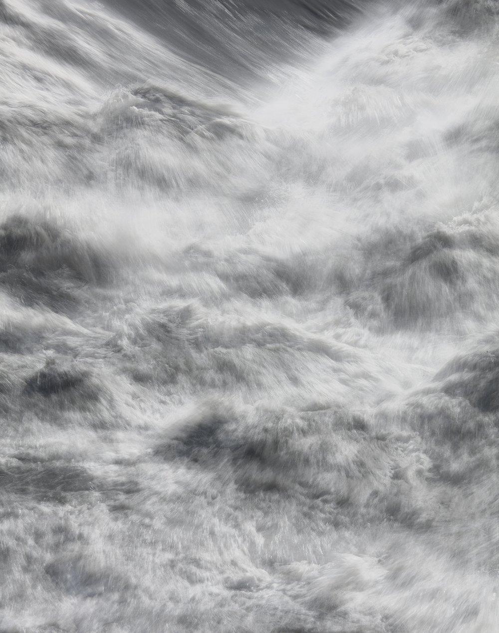 Flumen 10, 2017 37.5 x 30 in Vellum + Archival Inkjet Prints Overlaid