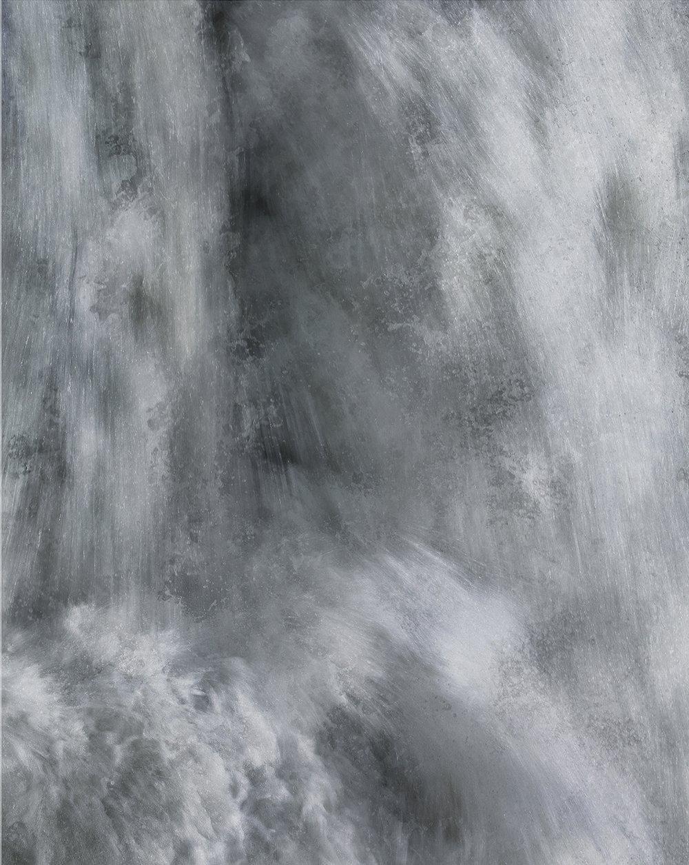Flumen 13, 2017 37.5 x 30 in Vellum + Archival Inkjet Prints Overlaid