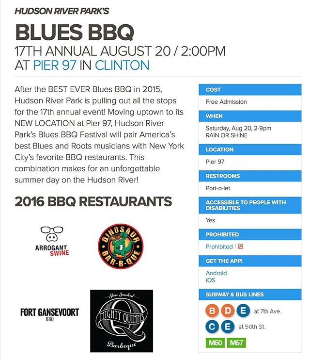 We'll be closed this week as we prepare for the @hudsonriverpark Blues and BBQ festival this Saturday! Come eat us there!🙏💪🔥