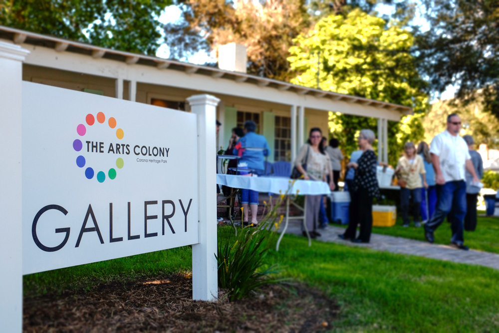 The Arts Colony is located on the historic grounds of Corona Heritage Park.