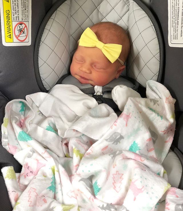 After 5 days in the hospital, we are PUMPED to finally be home with our girl. 🤗💞✨ #anniemoonallison