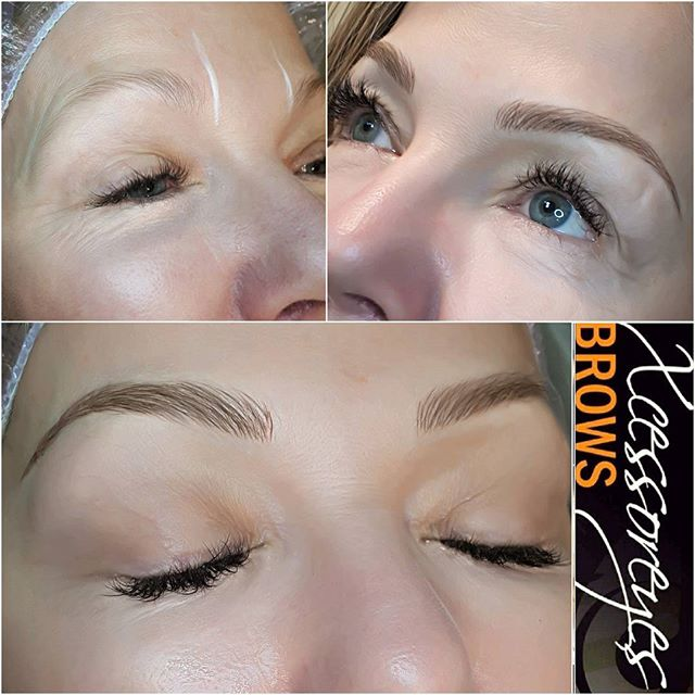 A delicate and refined brow was  the order of the day for this beauty ❤🤗 permanentmakeup #nanaimobeauty #microbladed #nanaimobrows #yeg #microblading #yyjbeauty #yyjhair #nanaimo #langfordbeauty #langfordbc #courtenaybc #campbellriverbc #portalberni #vibeauty #nanaimohair