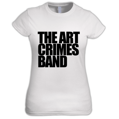 THE ART CRIMES BAND BLACK TEXT WOMEN'S. Available in various colors and sizes. Ships worldwide.  CLICK TO BUY @ DIZZYJAM