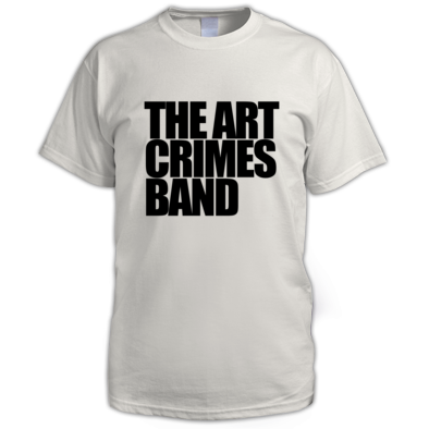 THE ART CRIMES BAND BLACK TEXT MEN'S. Available in various colors and sizes. Ships worldwide.  CLICK TO BUY @ DIZZYJAM