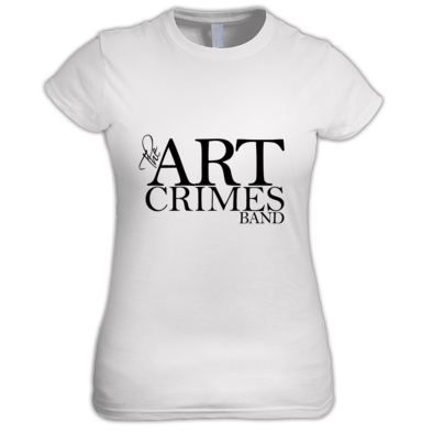 THE ART CRIMES BAND BLACK LOGO WOMEN'S. Available in various colors and sizes. Ships worldwide.  CLICK TO BUY @ DIZZYJAM