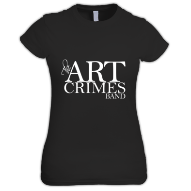 THE ART CRIMES BAND WHITE LOGO WOMEN'S. Available in various colors and sizes. Ships worldwide.  CLICK TO BUY @ DIZZYJAM