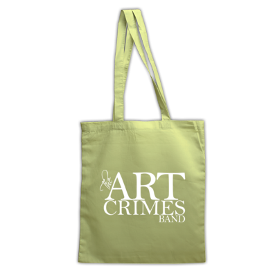 THE ART CRIMES BAND TOTE BAG LOGO WHITE: Available in various colors. Ships worldwide.  CLICK TO BUY @ DIZZYJAM