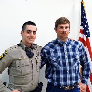 Deputy Dylan Dorris and Scott Perkins;  Photo: Jillian Beck/ACN