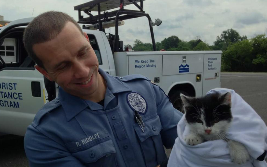 Officer Richie Ridolfi and Bridgett; Photo: via nbcphiladelphia.com