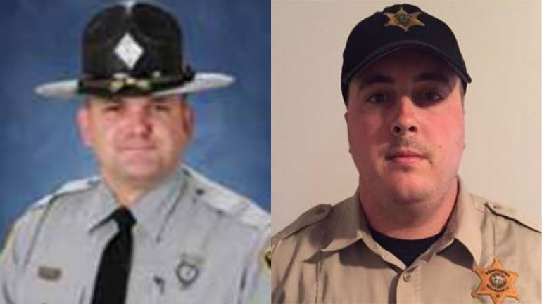 Trooper T.T. Tucker and Deputy Clayton Doss;  Photo: via myfox8.com