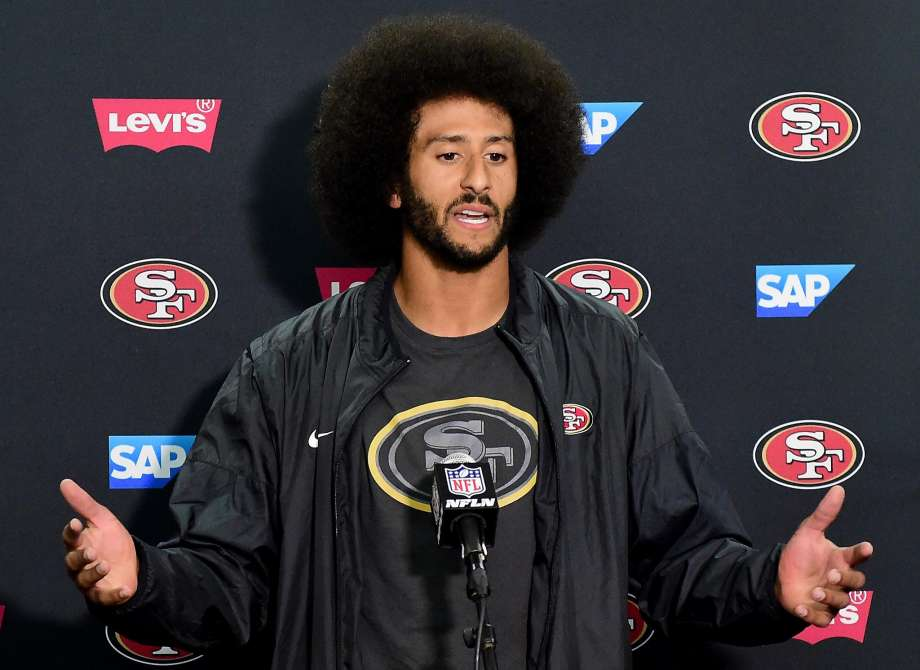 Colin Kaepernick;  Photo: Harry How/Getty