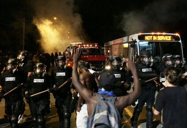 Protesters in Charlotte, NC; Photo: Reuters