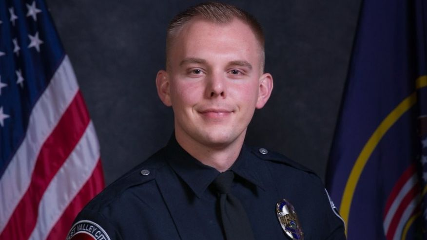 Officer Cody Brotherson;  Photo: West Valley City PD