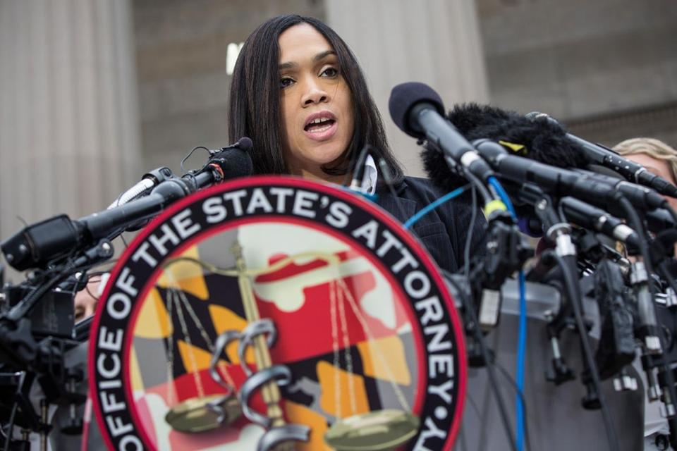 Marilyn Mosby;  Photo: Andrew Burton via bostonglobe.com