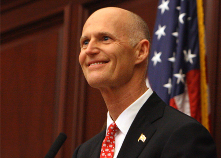 Gov Rick Scott; Photo: via tampabay.com