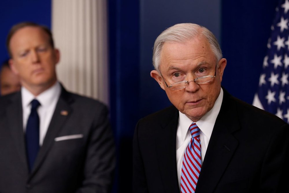 Attorney General Jeff Sessions;  Photo: Jonathan Ernst