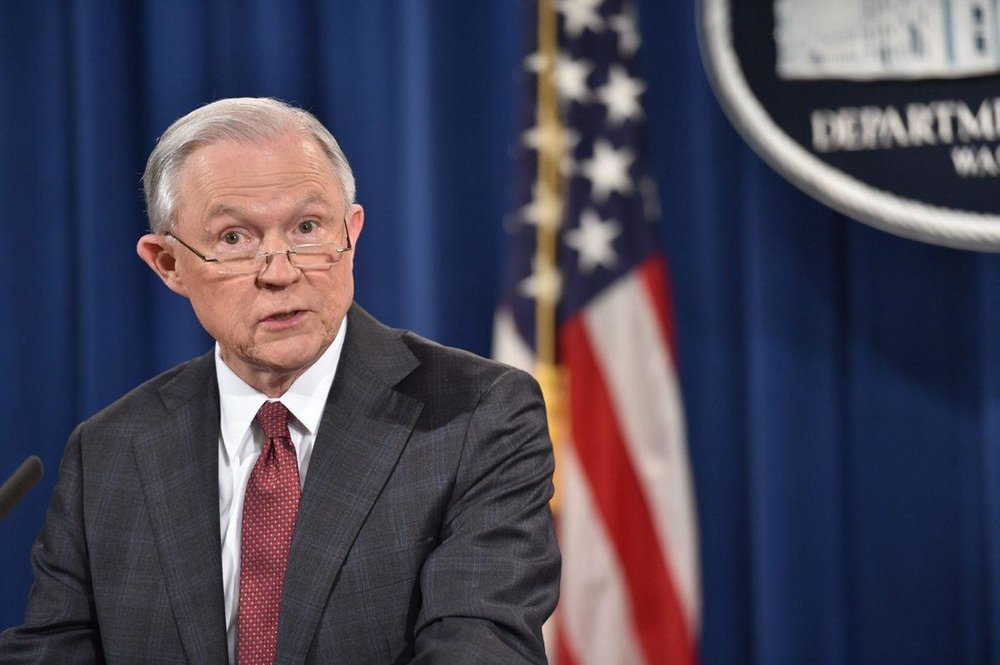 AG Jeff Sessions;  Photo: Nicholas Kamm