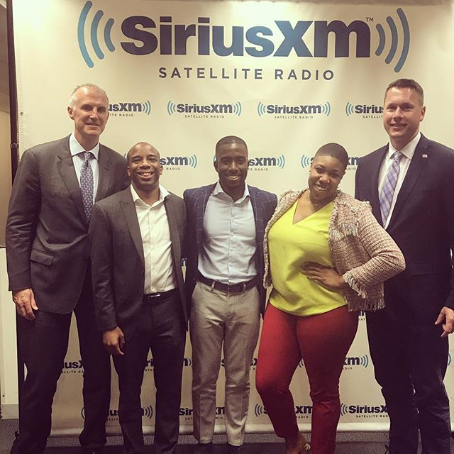 SiriusXM talk on police and community relations with AISLE president Scott G. Erickson, Symone Sanders, Chris Prudhome, Mark Holden, Shermichael Singleton, and Congressman Scott Taylor.