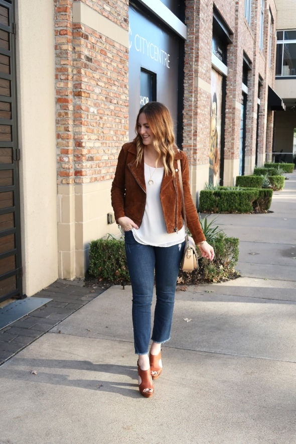 Fall Suede Jacket Outfit