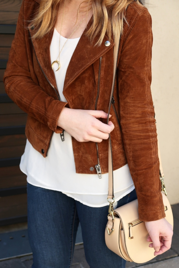 Suede Jacket Outfit for Fall