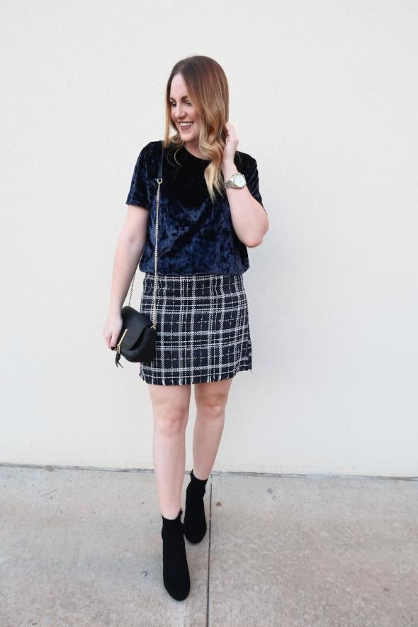 plaid fall skirt