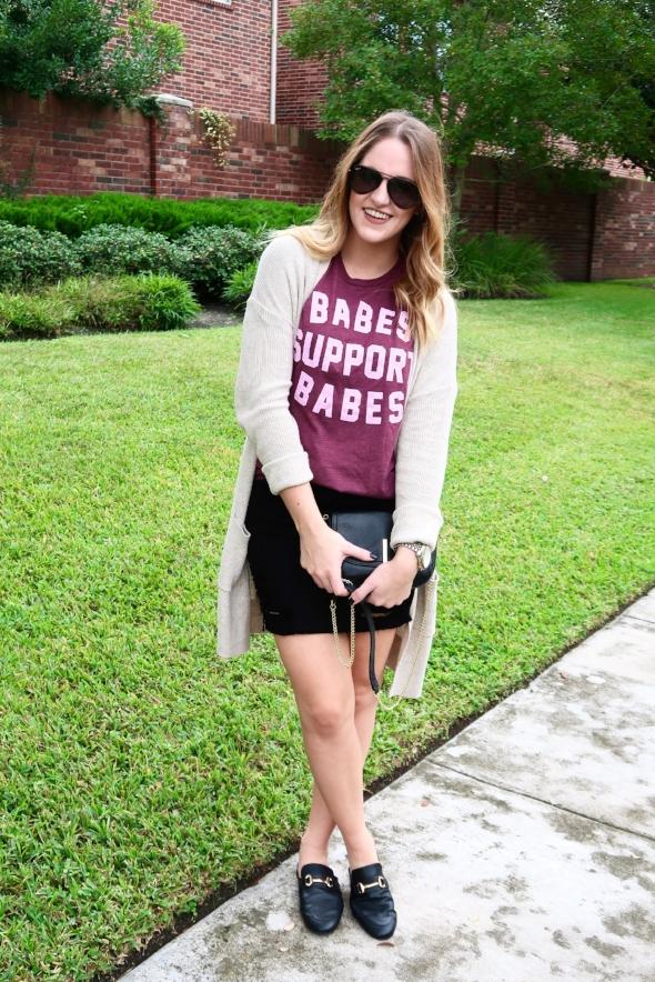 babes support babes t-shirt