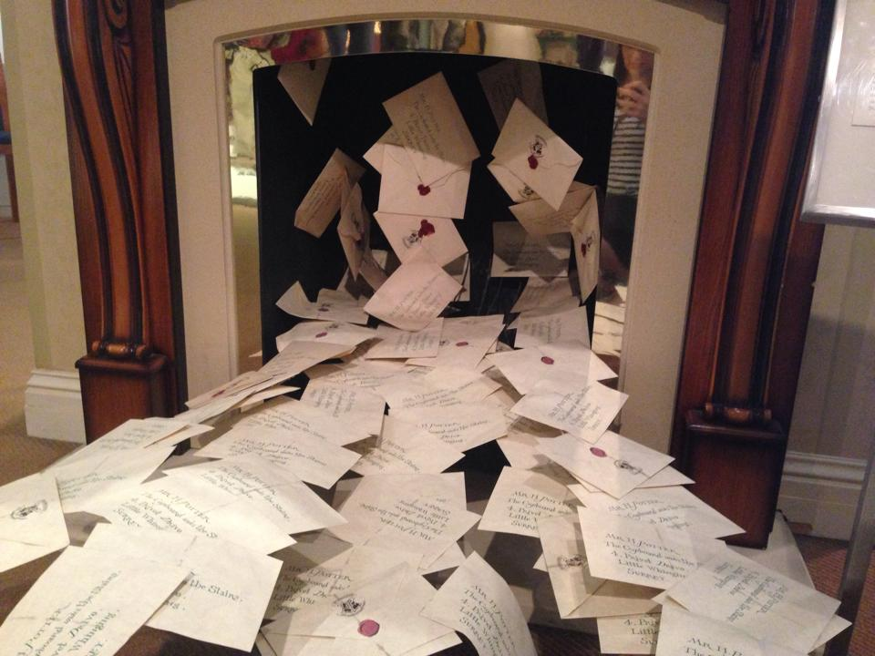 Acceptance Hogwarts letters from the first  Harry Potter  movie.