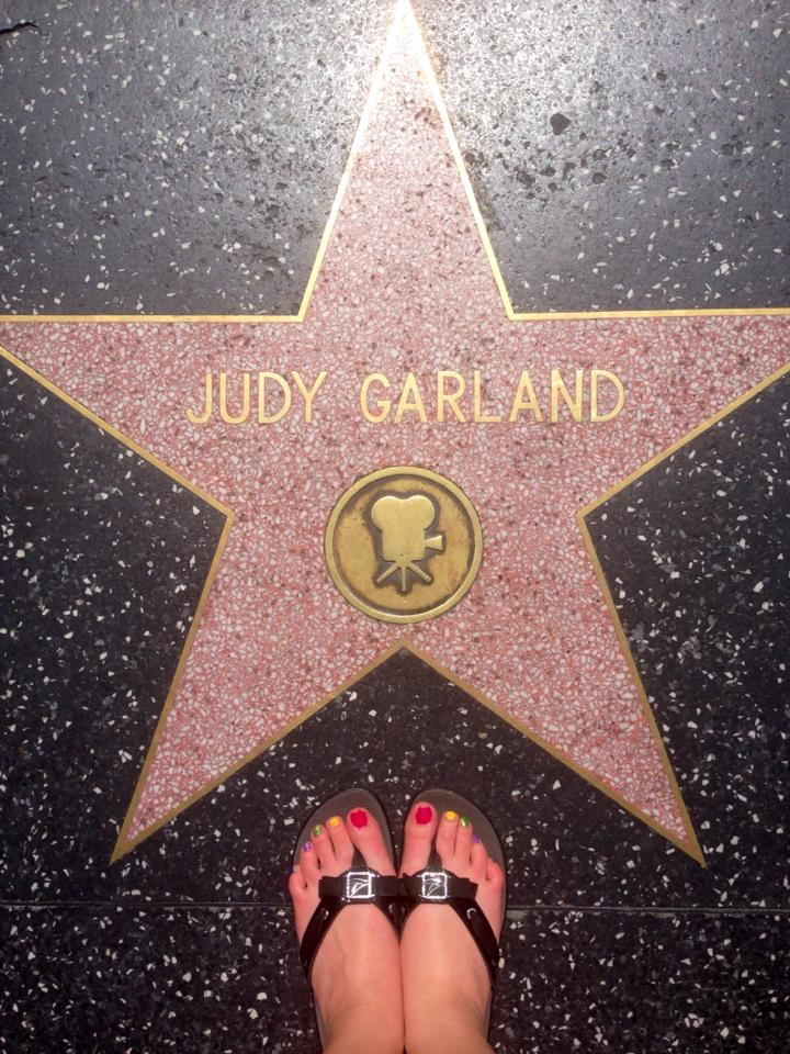 Judy Garland's star on the Walk of Fame.