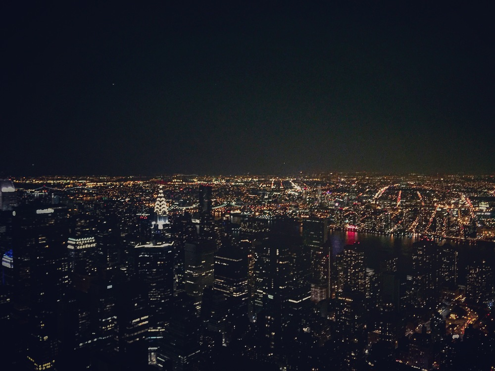 The city skyline from the Empire State Building.