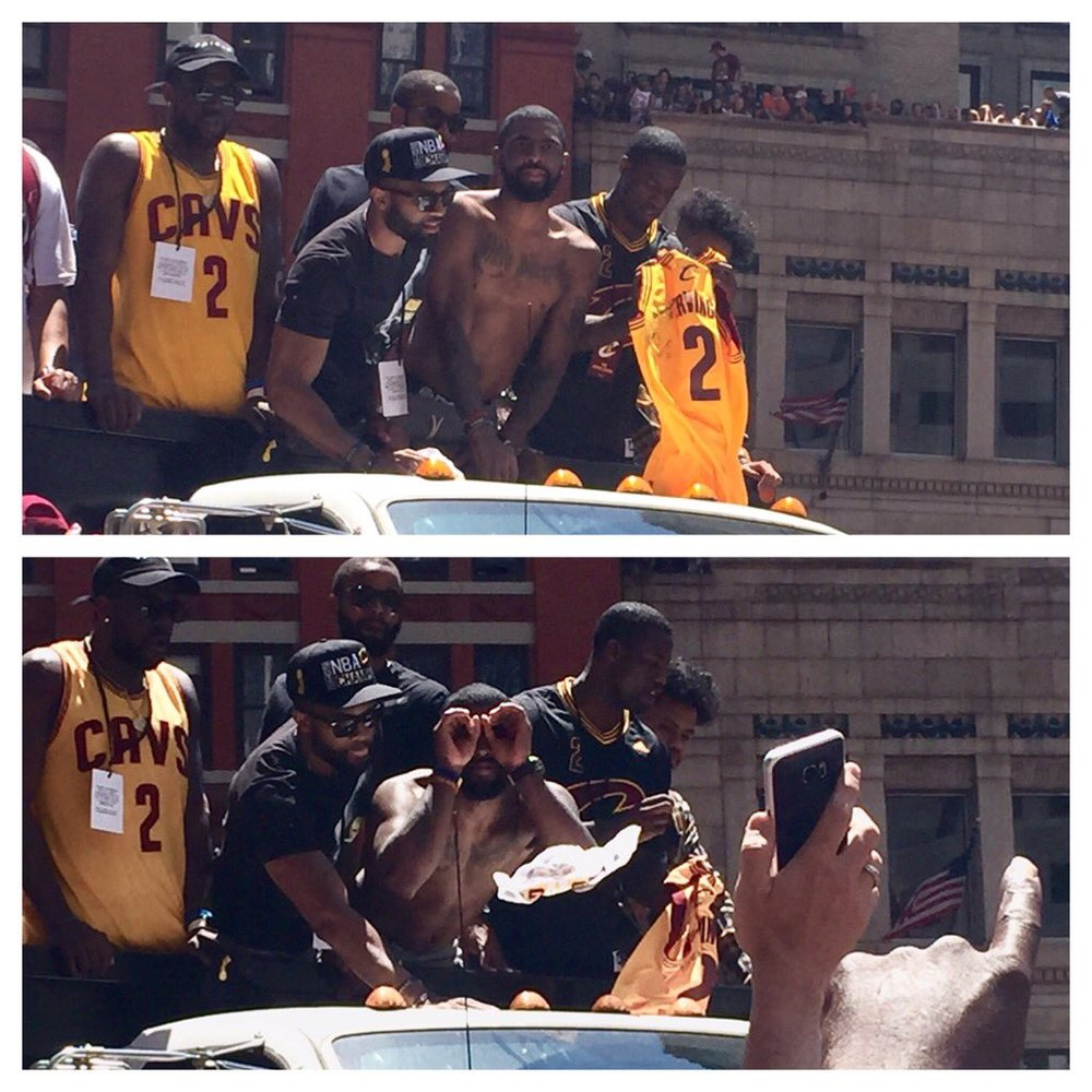 Kyrie Irving looking at me!