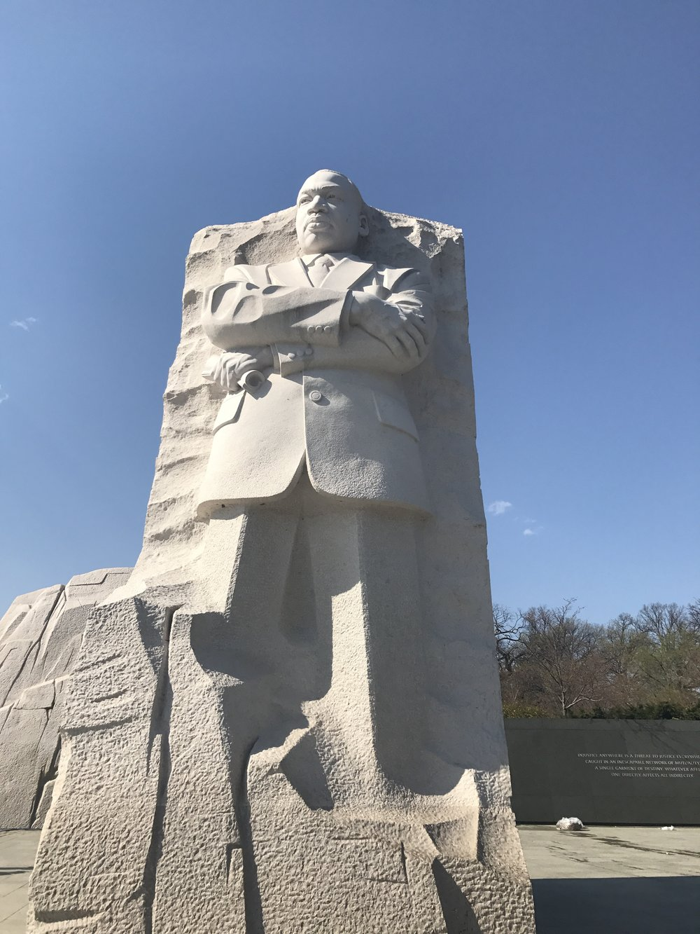 Martin Luther King Jr.'s sculpture at the Martin Luther King Jr. Memorial.
