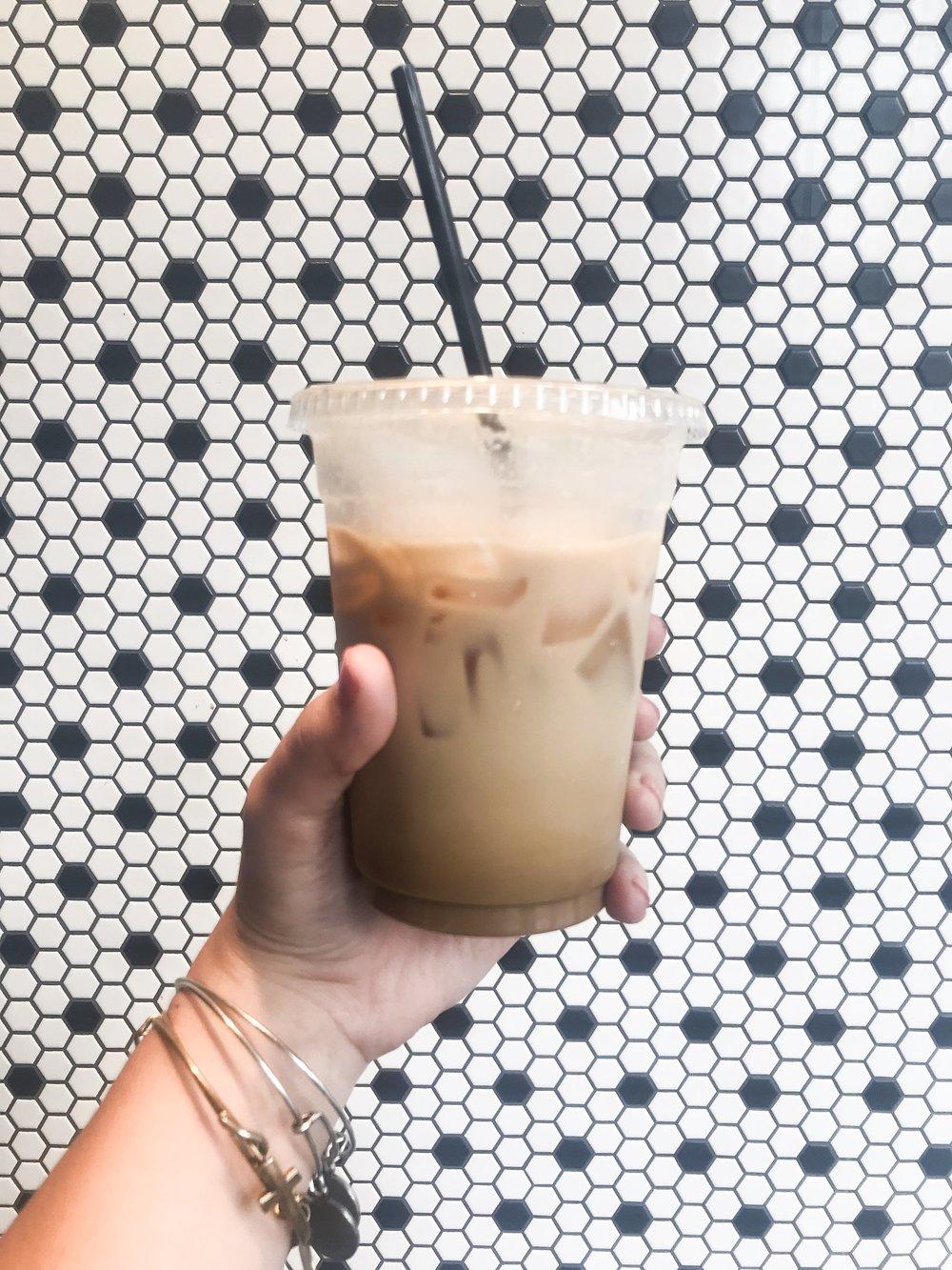 My iced almond vanilla latte from  Milk and Honey Nashville