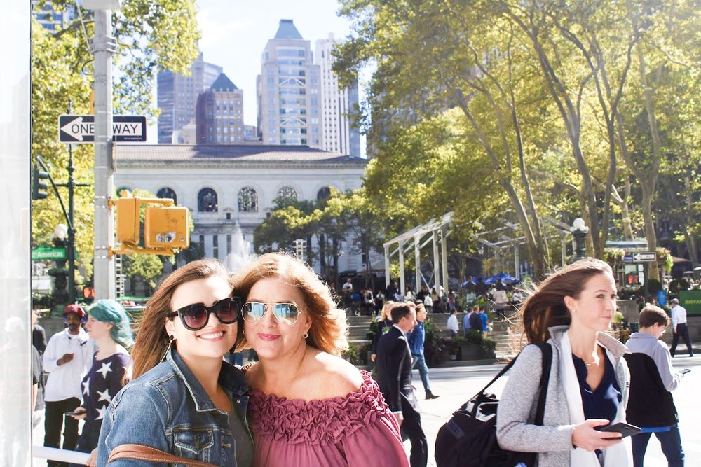 Me and Aunt Mindy at Bryant Park!