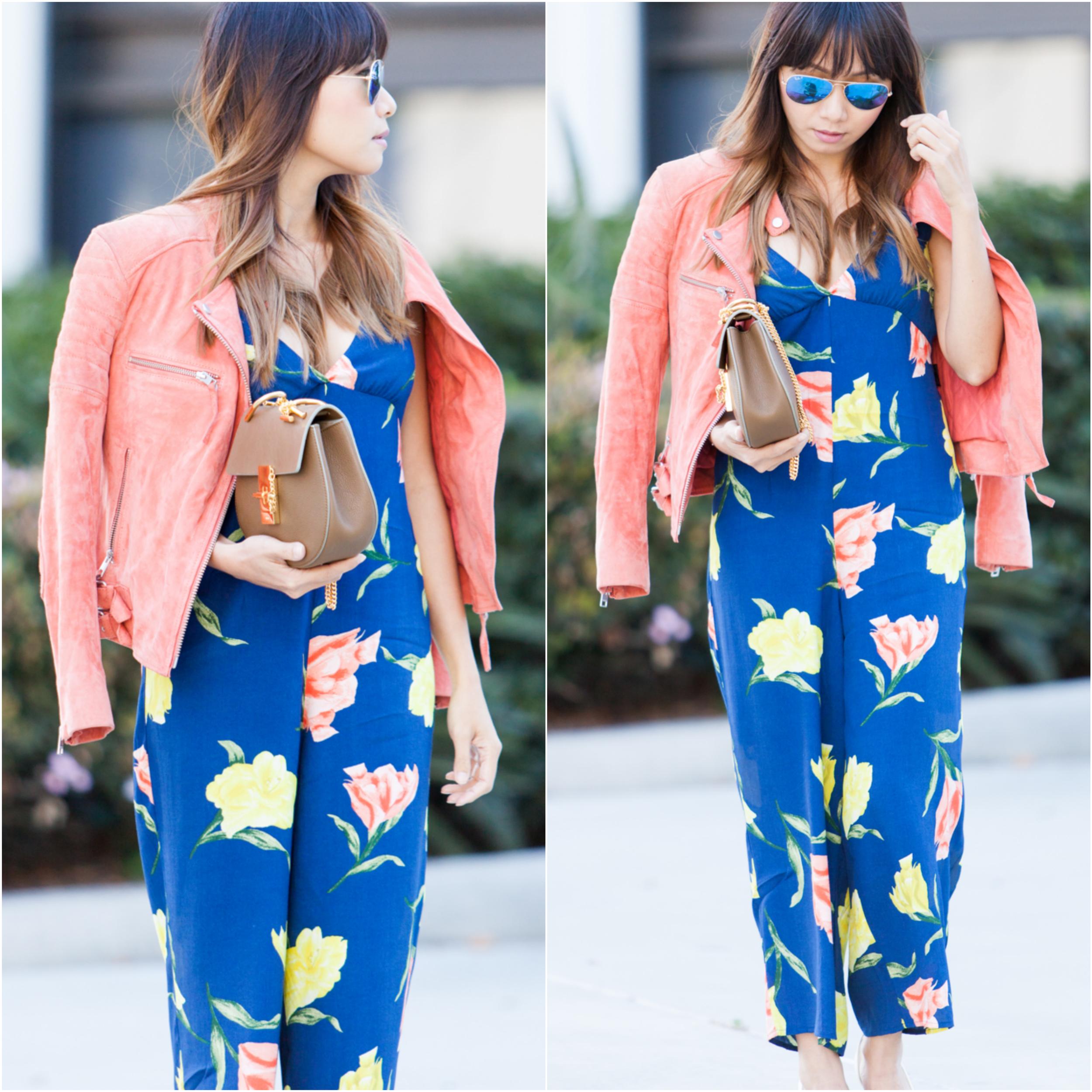Floral Jumpsuit Collage